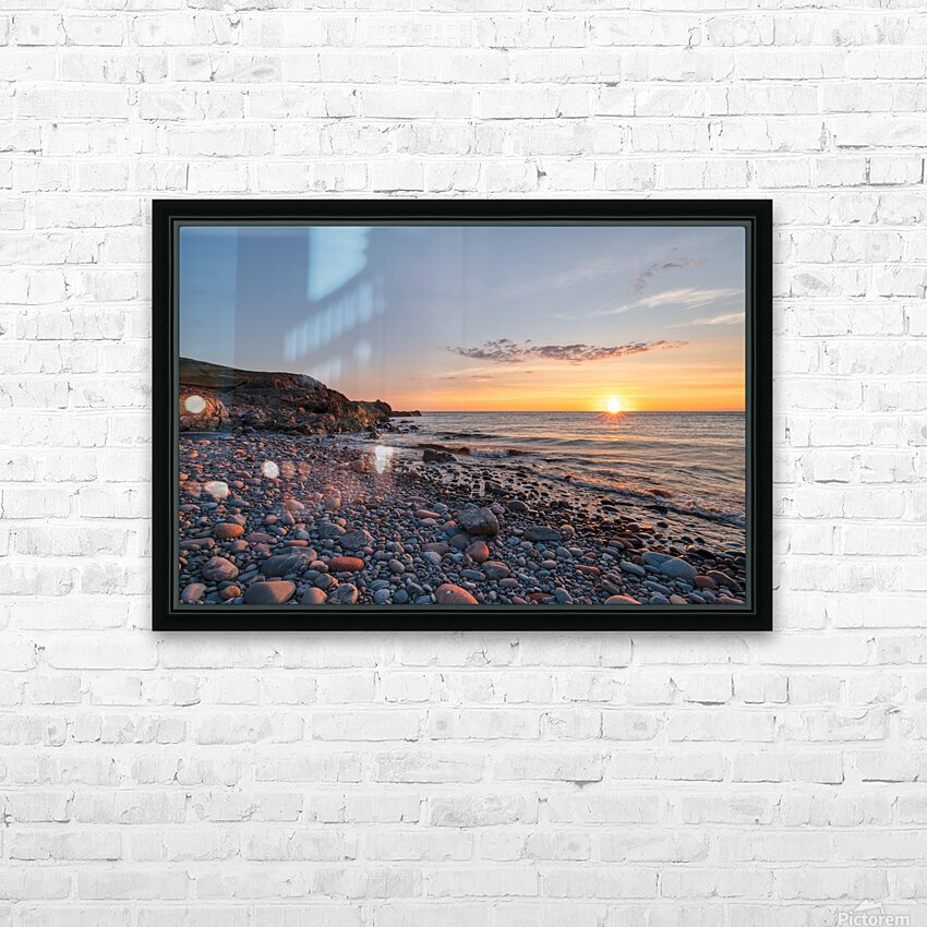 Corney Brook Sunset HD Sublimation Metal print with Decorating Float Frame (BOX)