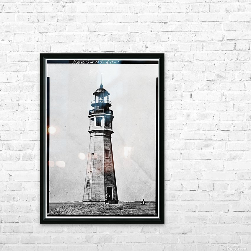 Buffalo Lighthouse, New York HD Sublimation Metal print with Decorating Float Frame (BOX)