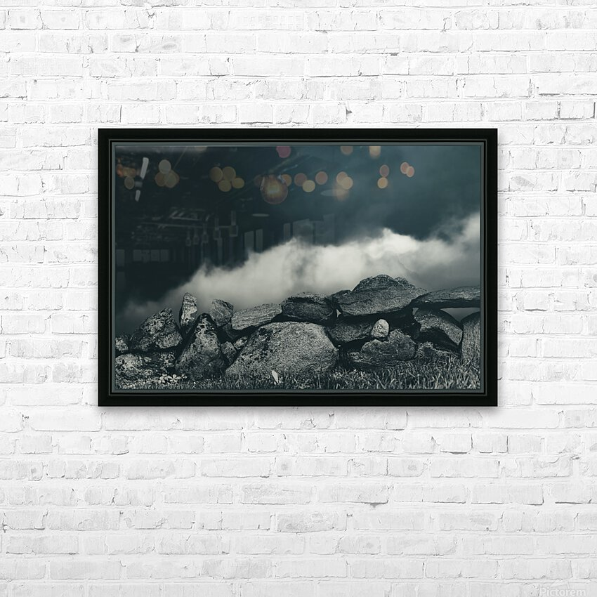 Behind The Wall HD Sublimation Metal print with Decorating Float Frame (BOX)