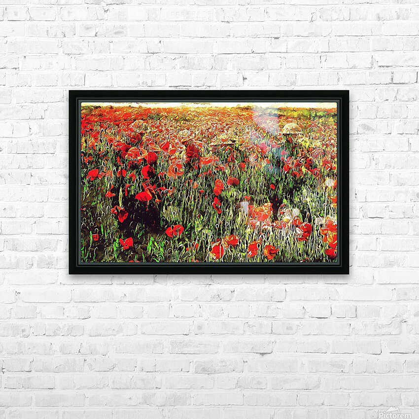 Hidden in the Poppy Fields HD Sublimation Metal print with Decorating Float Frame (BOX)