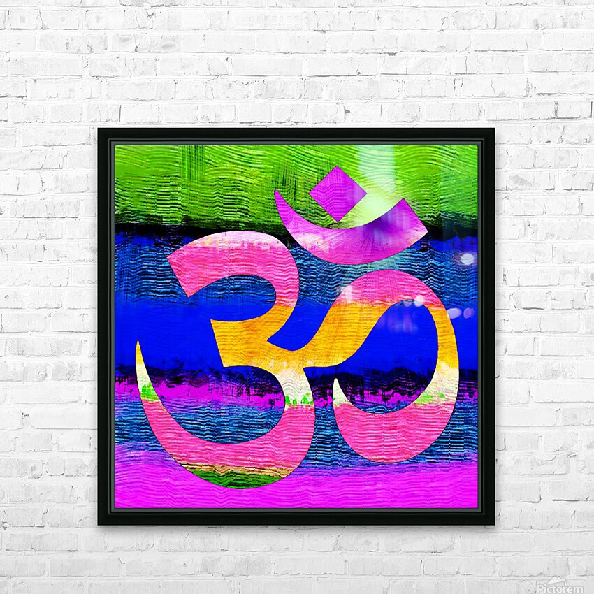 Om Waves HD Sublimation Metal print with Decorating Float Frame (BOX)
