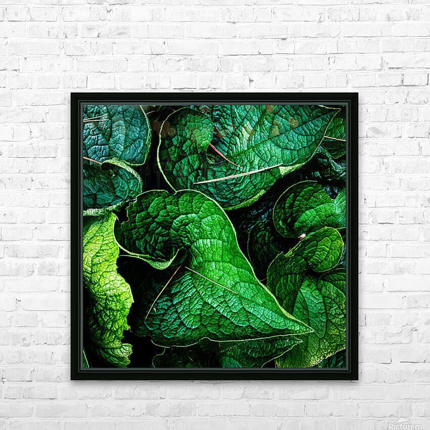 Garden Leaves HD Sublimation Metal print with Decorating Float Frame (BOX)