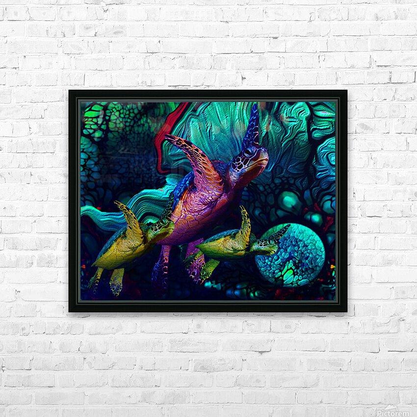 Turtles en Saison 5 HD Sublimation Metal print with Decorating Float Frame (BOX)
