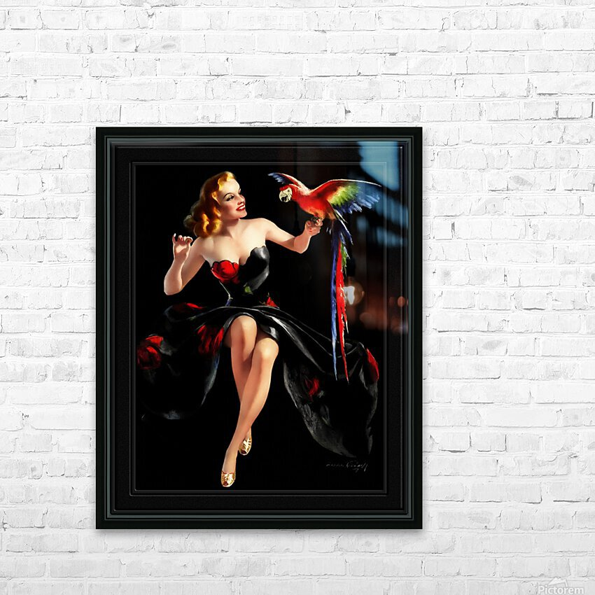 Polly Wants A Cracker by Bradshaw Crandell Vintage Xzendor7 Old Masters Art Deco Reproductions HD Sublimation Metal print with Decorating Float Frame (BOX)
