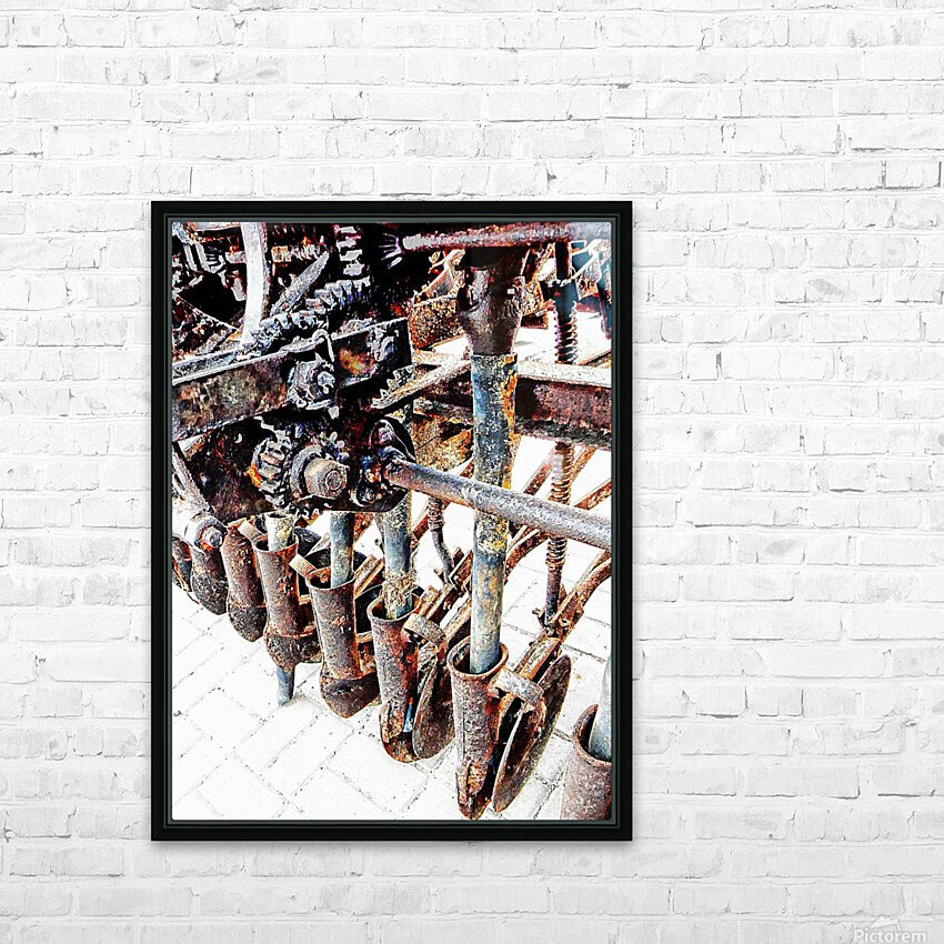 Antique Horse Drawn Seed Tiller HD Sublimation Metal print with Decorating Float Frame (BOX)