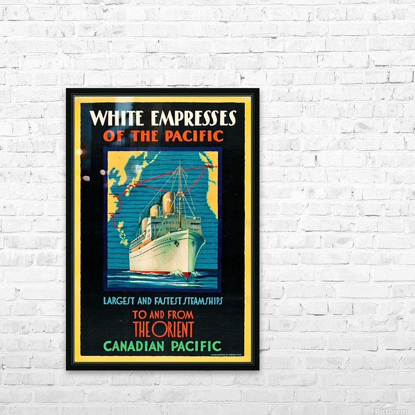 Canadian Pacific Travel Poster HD Sublimation Metal print with Decorating Float Frame (BOX)