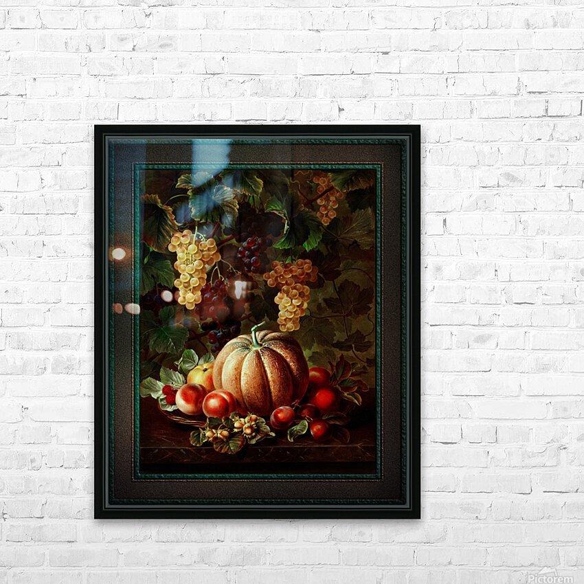 Pumpkin Platter by Johan Laurentz Jensen Classical Fine Art Xzendor7 Old Masters Reproductions HD Sublimation Metal print with Decorating Float Frame (BOX)