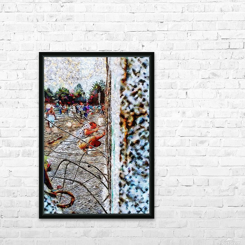Fall of the Berlin Wall HD Sublimation Metal print with Decorating Float Frame (BOX)