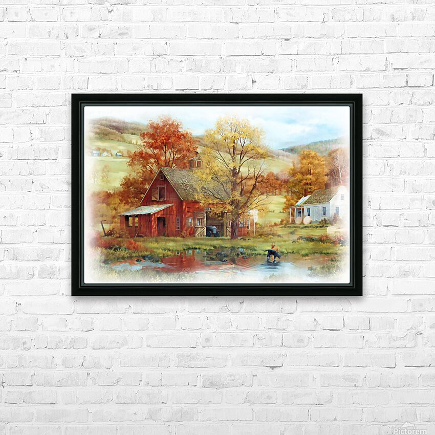 Country Living HD Sublimation Metal print with Decorating Float Frame (BOX)
