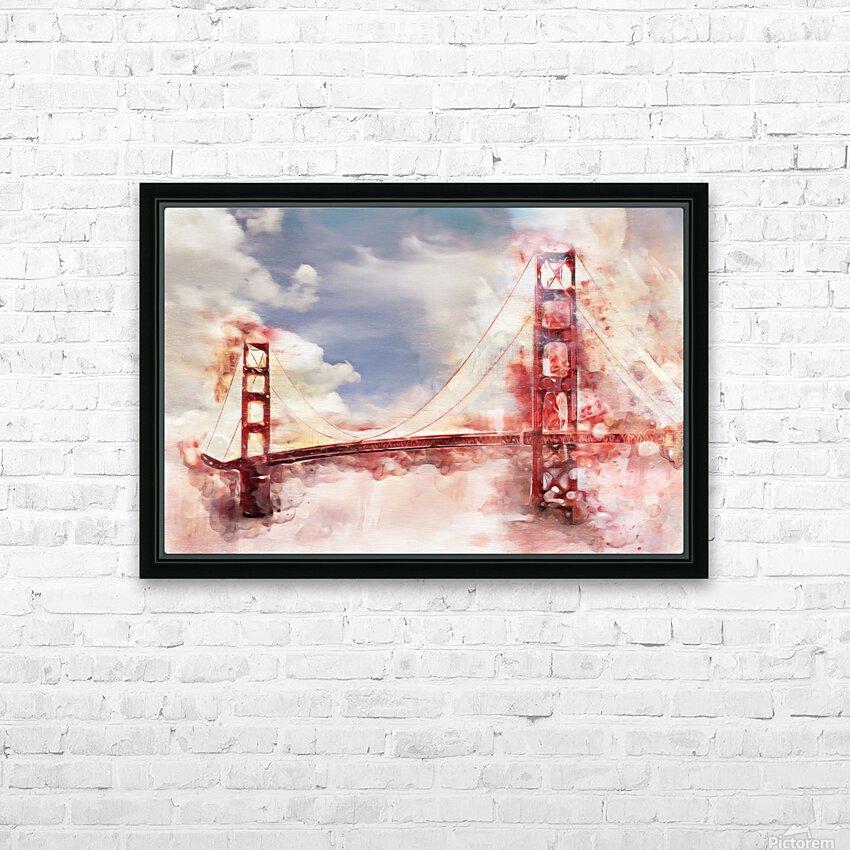 Golden Gate Bridge HD Sublimation Metal print with Decorating Float Frame (BOX)
