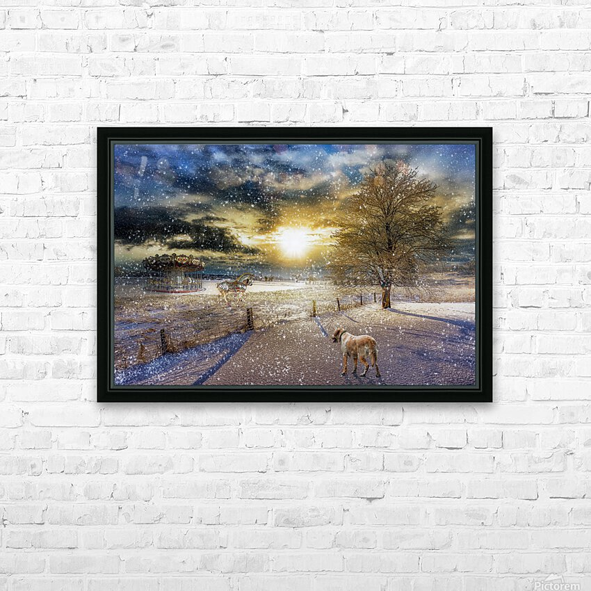 A Magical Winter Night HD Sublimation Metal print with Decorating Float Frame (BOX)