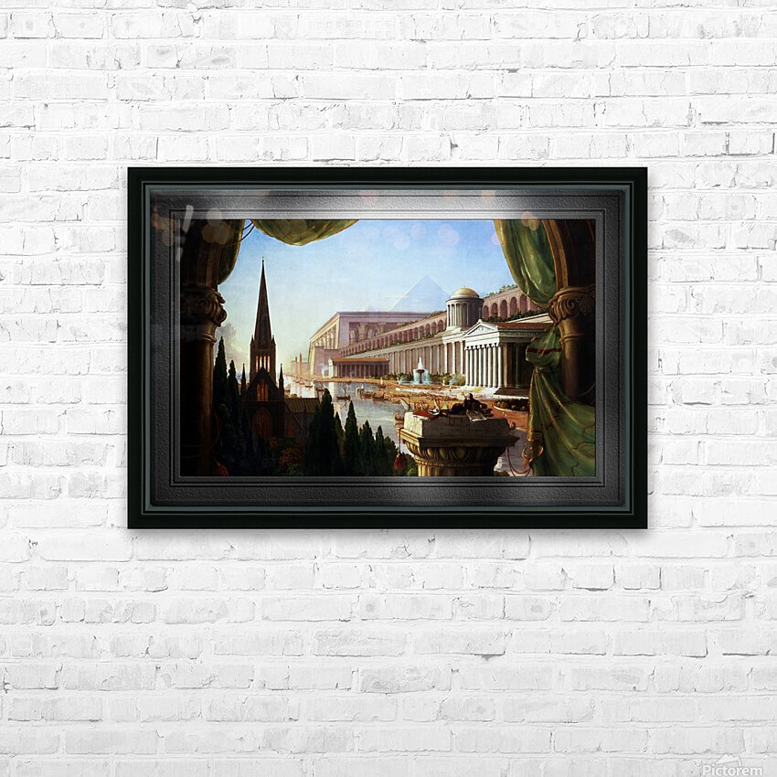 Architects Dream by Thomas Cole Classical Fine Art Xzendor7 Old Masters Reproductions HD Sublimation Metal print with Decorating Float Frame (BOX)