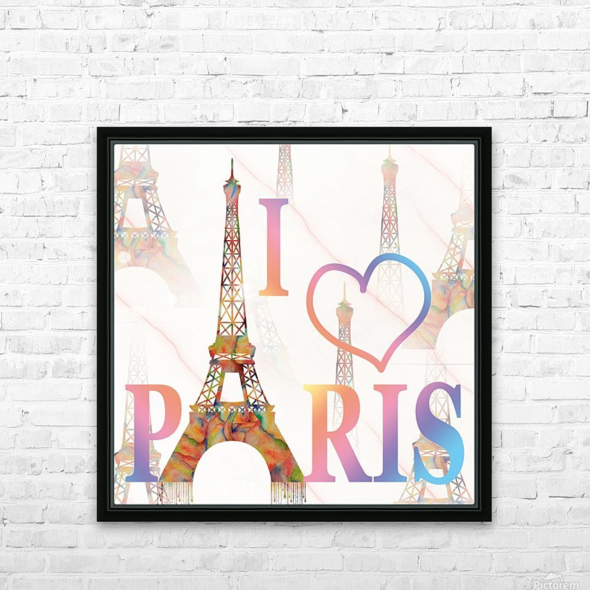 I LOVE PARIS HD Sublimation Metal print with Decorating Float Frame (BOX)