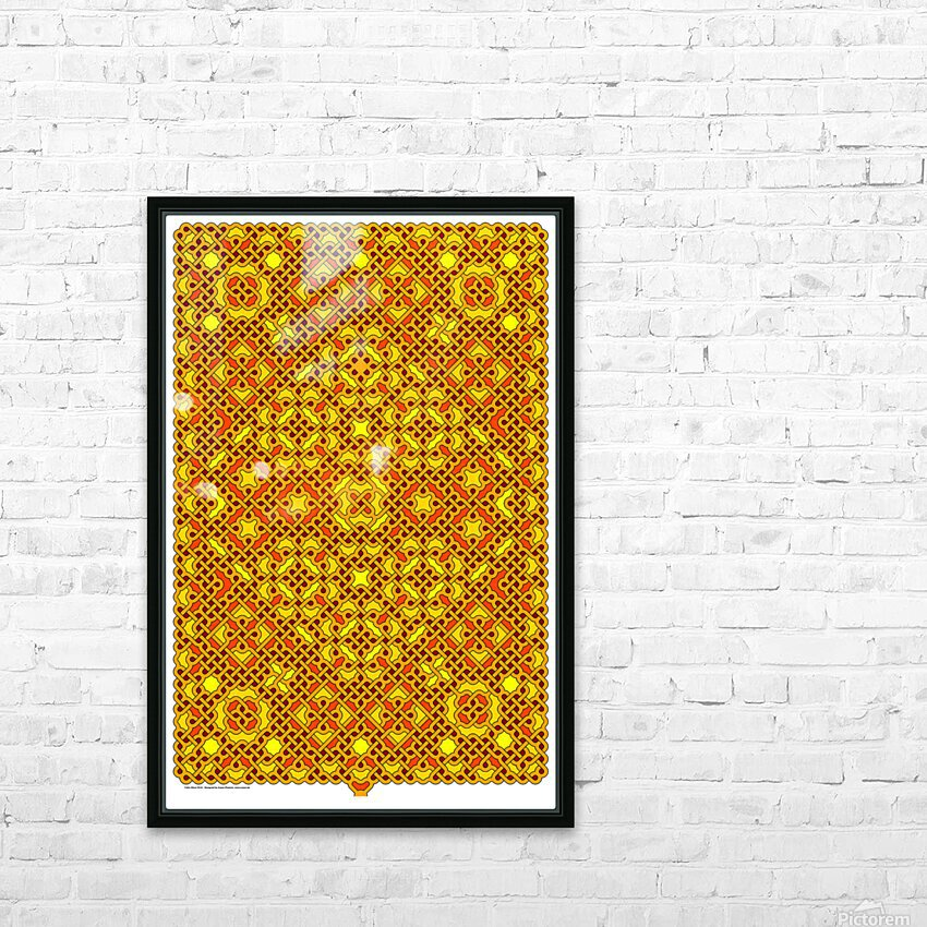 Celtic Maze 5016 HD Sublimation Metal print with Decorating Float Frame (BOX)