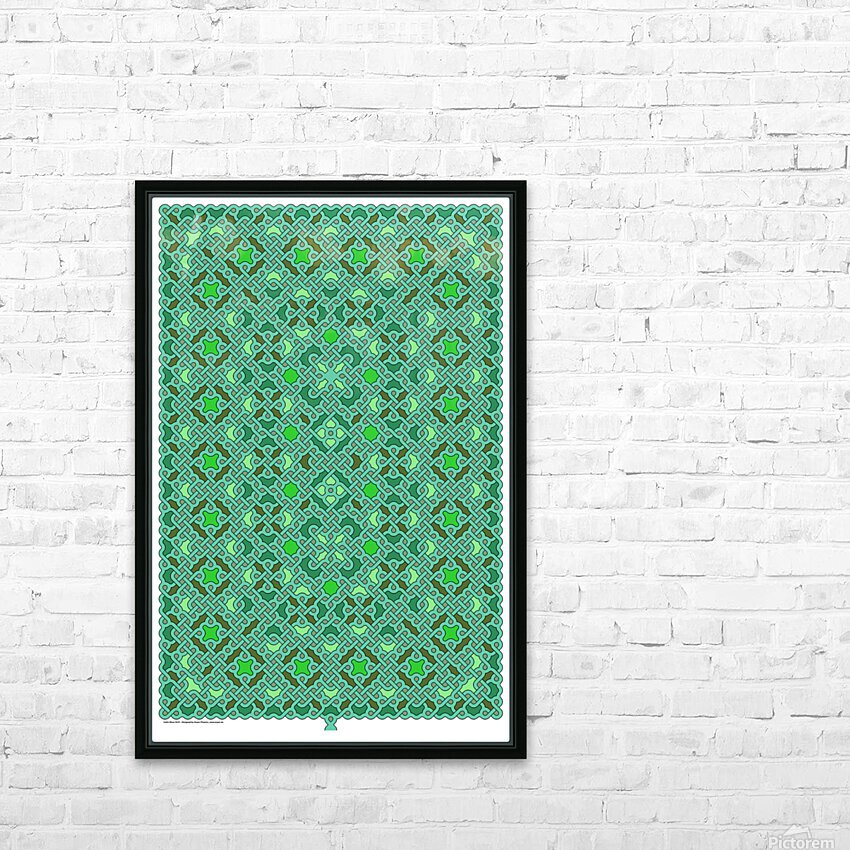 Celtic Maze 5015 HD Sublimation Metal print with Decorating Float Frame (BOX)