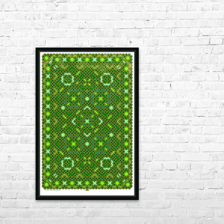 Celtic Maze 5017 HD Sublimation Metal print with Decorating Float Frame (BOX)