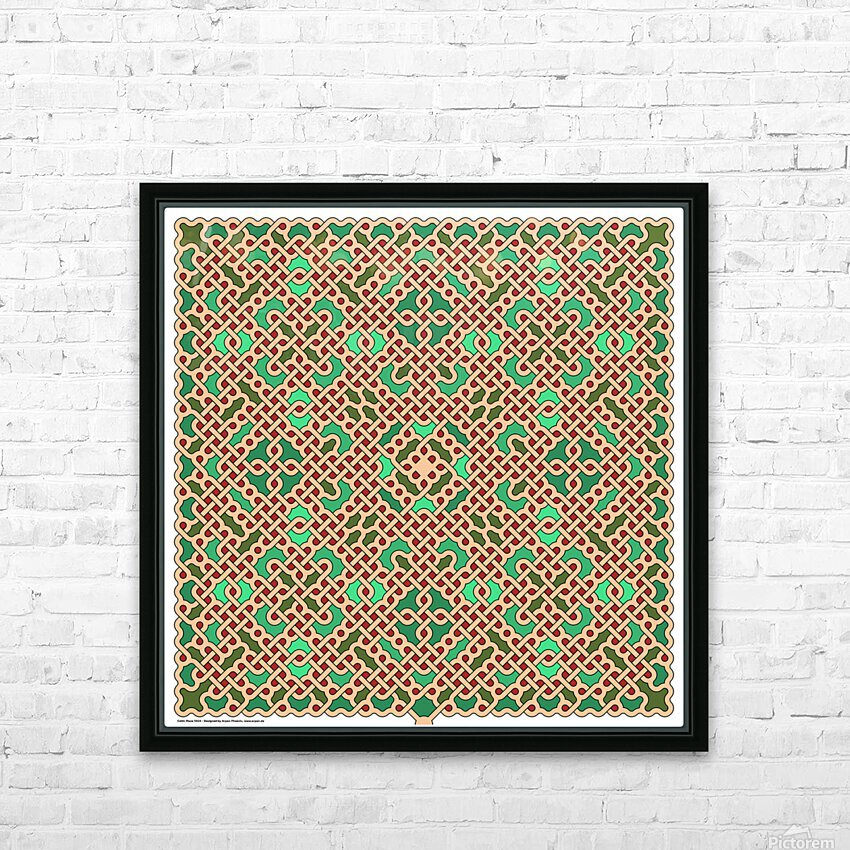 Celtic Maze 5024 HD Sublimation Metal print with Decorating Float Frame (BOX)