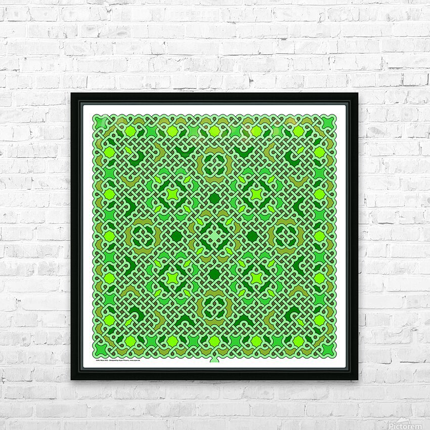 Celtic Maze 5021 HD Sublimation Metal print with Decorating Float Frame (BOX)