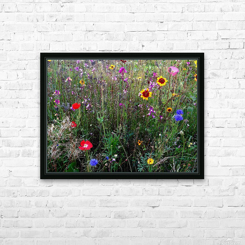 English Cottage Garden Flowers 2 HD Sublimation Metal print with Decorating Float Frame (BOX)