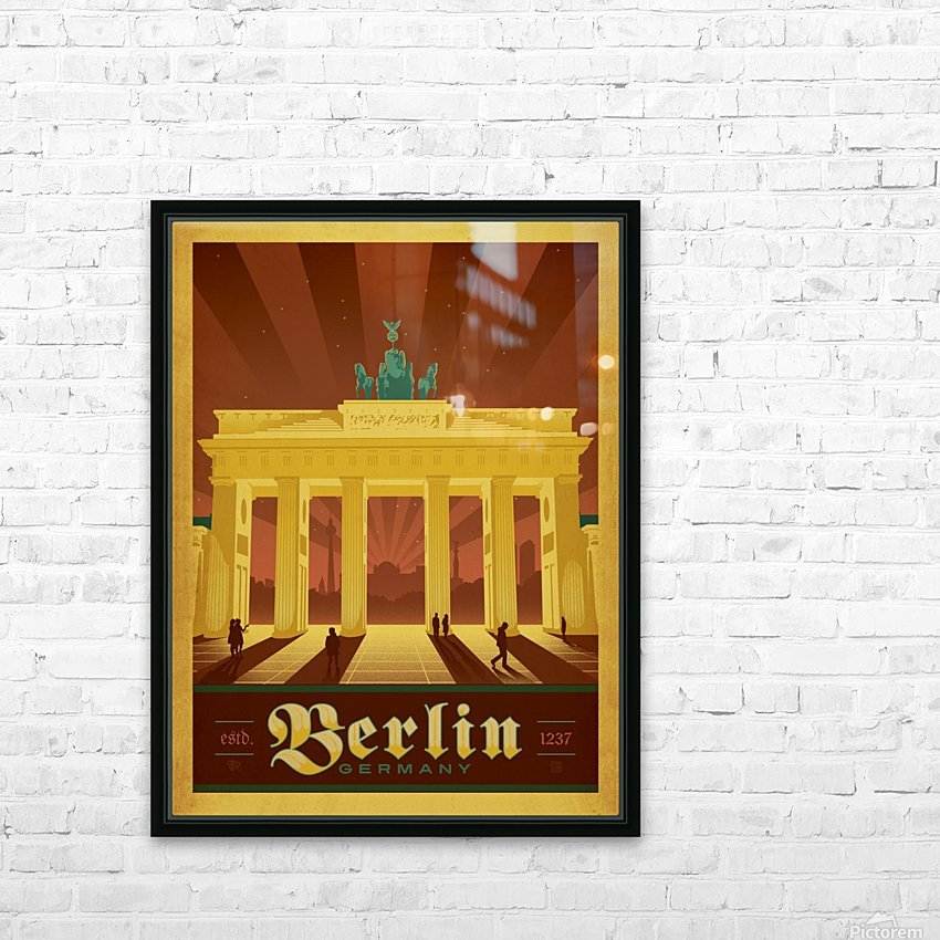 Berlin Germany travel poster HD Sublimation Metal print with Decorating Float Frame (BOX)
