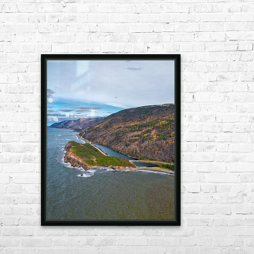 Custom Vert of Cabot Trail HD Sublimation Metal print with Decorating Float Frame (BOX)