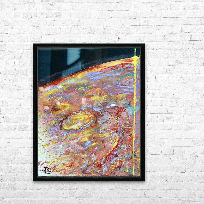 Worlds First Martianpressionist Painting HD Sublimation Metal print with Decorating Float Frame (BOX)