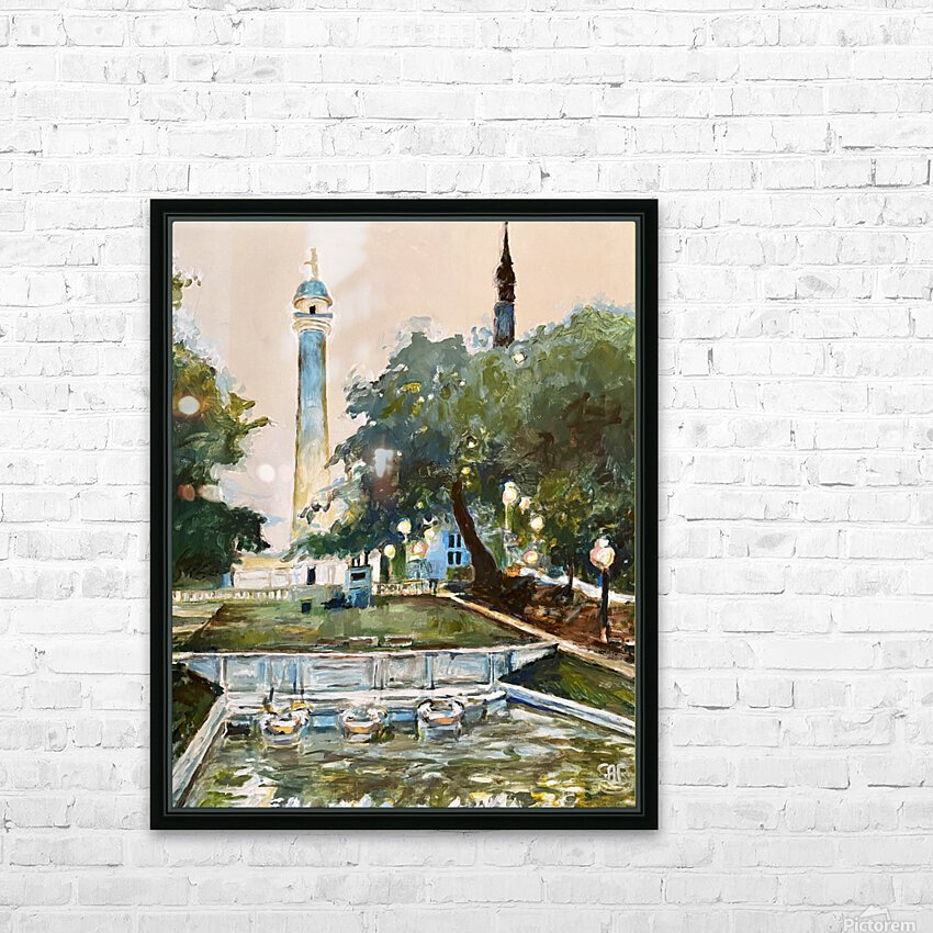 Mt Vernon Baltimore HD Sublimation Metal print with Decorating Float Frame (BOX)