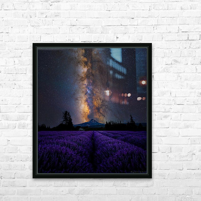 Lavender Valley HD Sublimation Metal print with Decorating Float Frame (BOX)