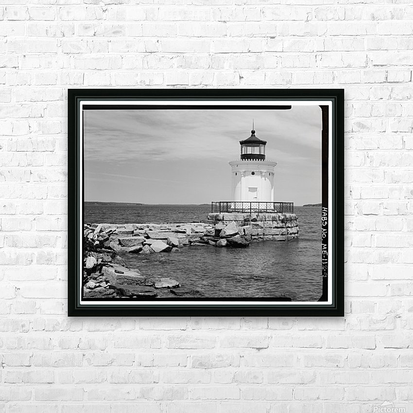 Portland-Breakwater-Lighthouse-2-Maine HD Sublimation Metal print with Decorating Float Frame (BOX)