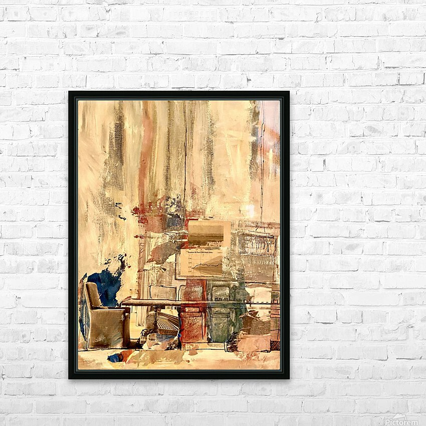 Dining Room Deconstructed  HD Sublimation Metal print with Decorating Float Frame (BOX)