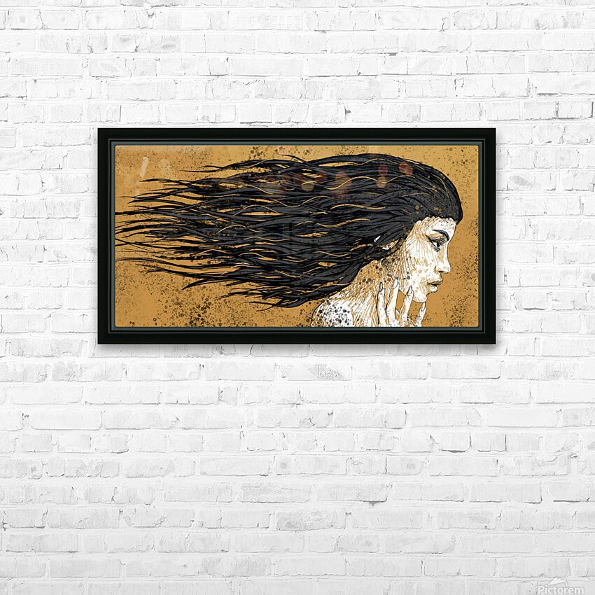 Precious Metals - Concept Art 1 - Gold HD Sublimation Metal print with Decorating Float Frame (BOX)