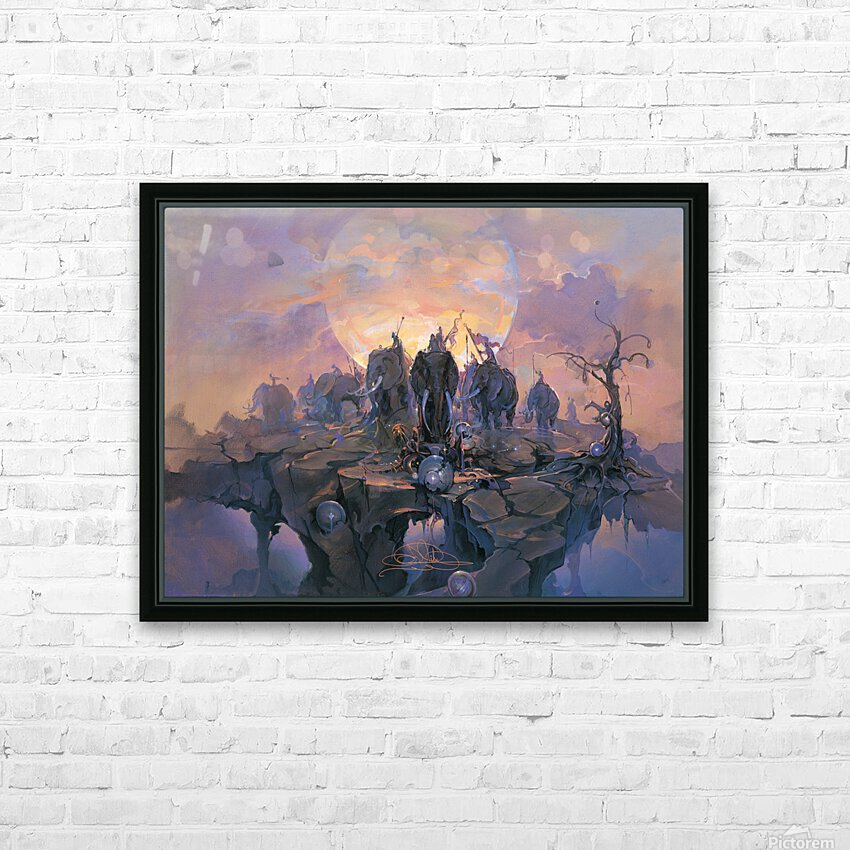 In the Company of Giants HD Sublimation Metal print with Decorating Float Frame (BOX)