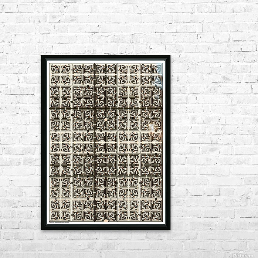 Labyrinth 4107 HD Sublimation Metal print with Decorating Float Frame (BOX)