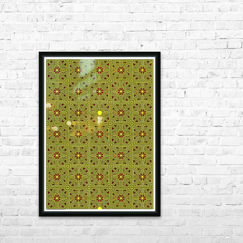 Labyrinth 4103 HD Sublimation Metal print with Decorating Float Frame (BOX)