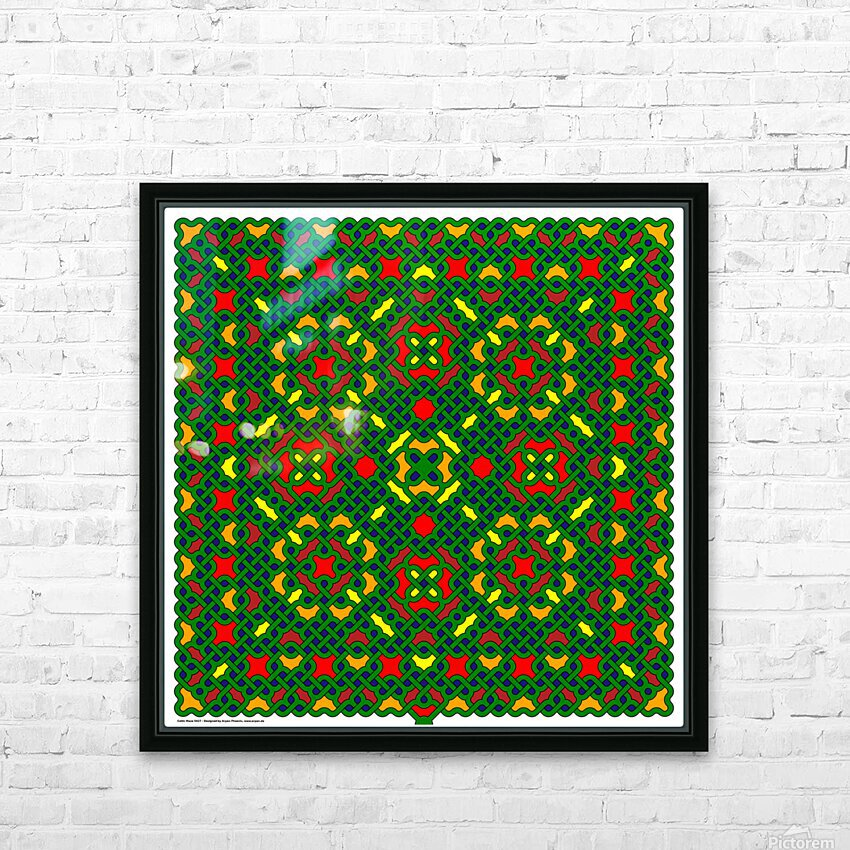 Celtic Maze 5027 HD Sublimation Metal print with Decorating Float Frame (BOX)