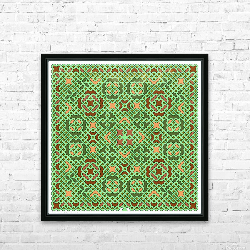 Celtic Maze 5028 HD Sublimation Metal print with Decorating Float Frame (BOX)