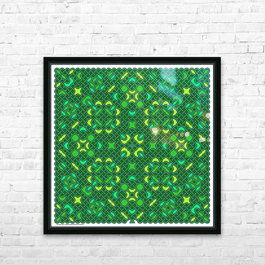 Celtic Maze 5032 HD Sublimation Metal print with Decorating Float Frame (BOX)