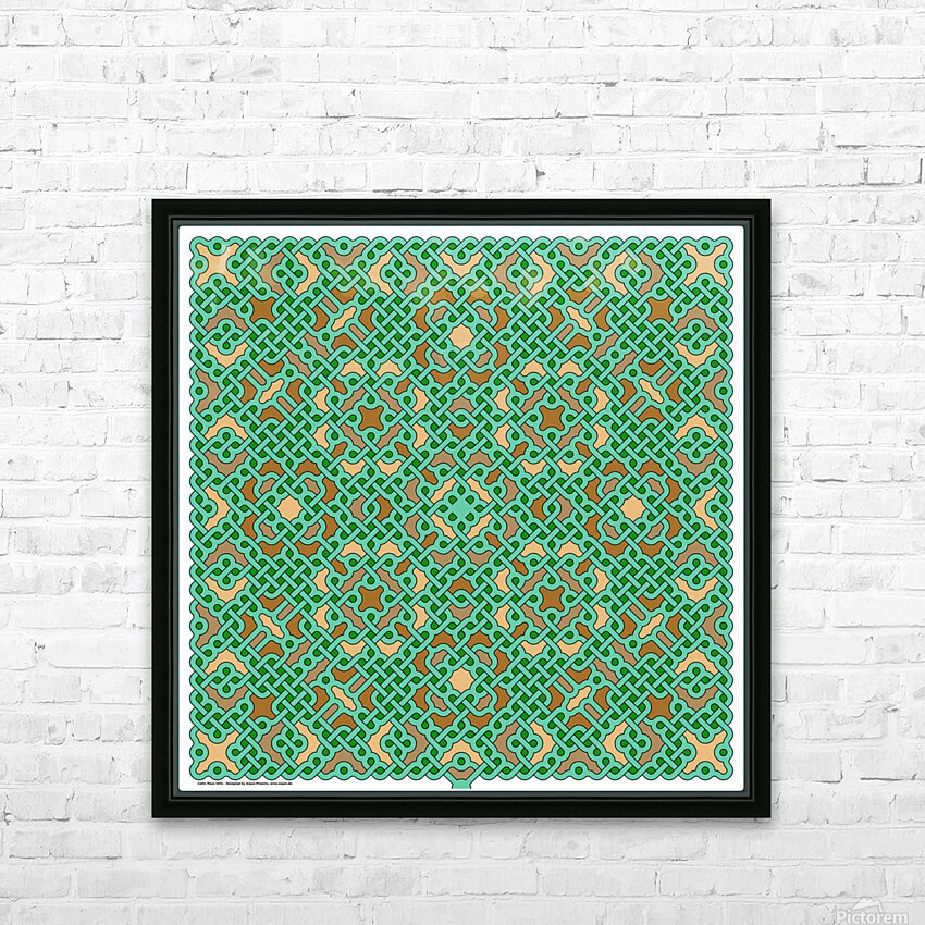 Celtic Maze 5031 HD Sublimation Metal print with Decorating Float Frame (BOX)