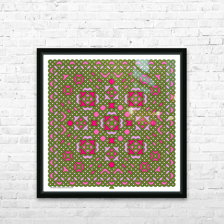Celtic Maze 5029 HD Sublimation Metal print with Decorating Float Frame (BOX)