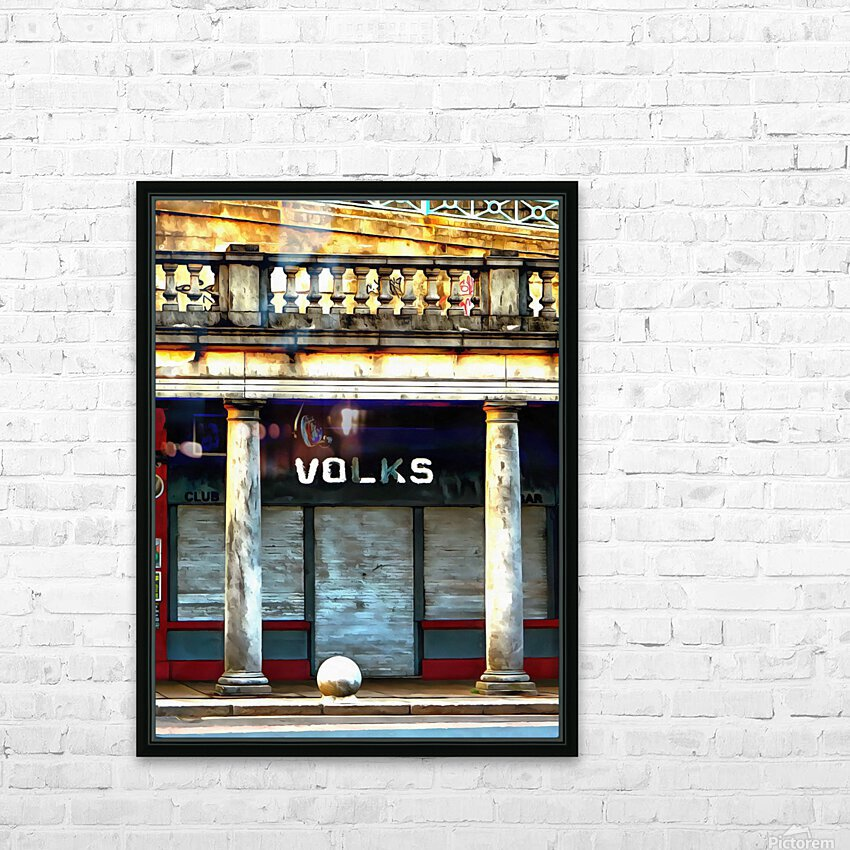 Volks Ticket Office Brighton HD Sublimation Metal print with Decorating Float Frame (BOX)