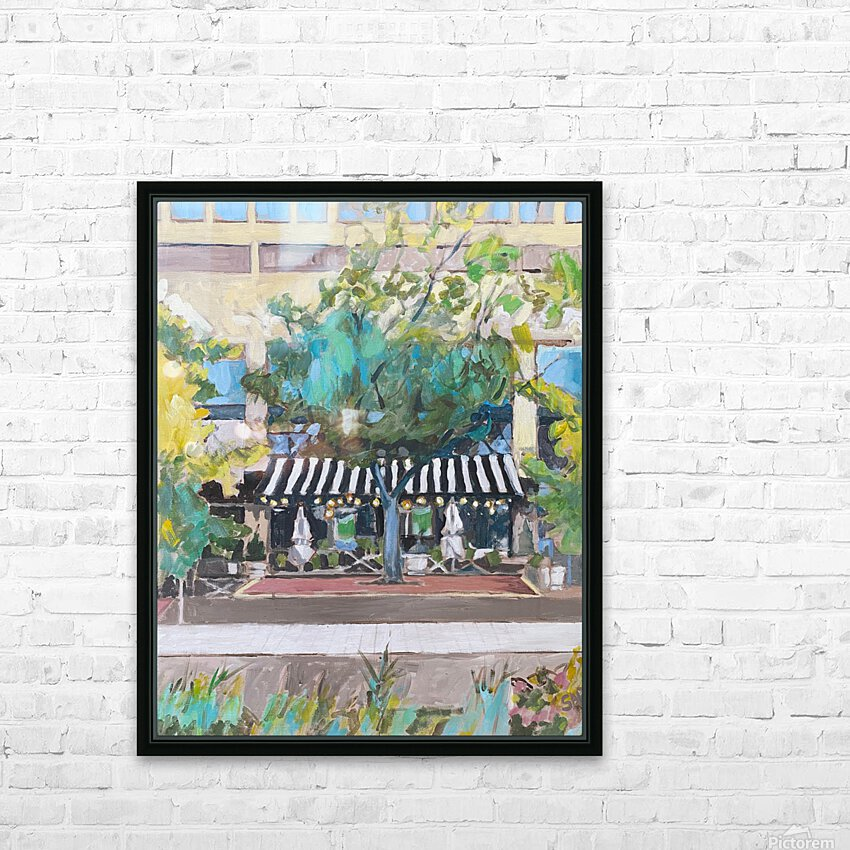 Street Cafe Downtown Baltimore HD Sublimation Metal print with Decorating Float Frame (BOX)