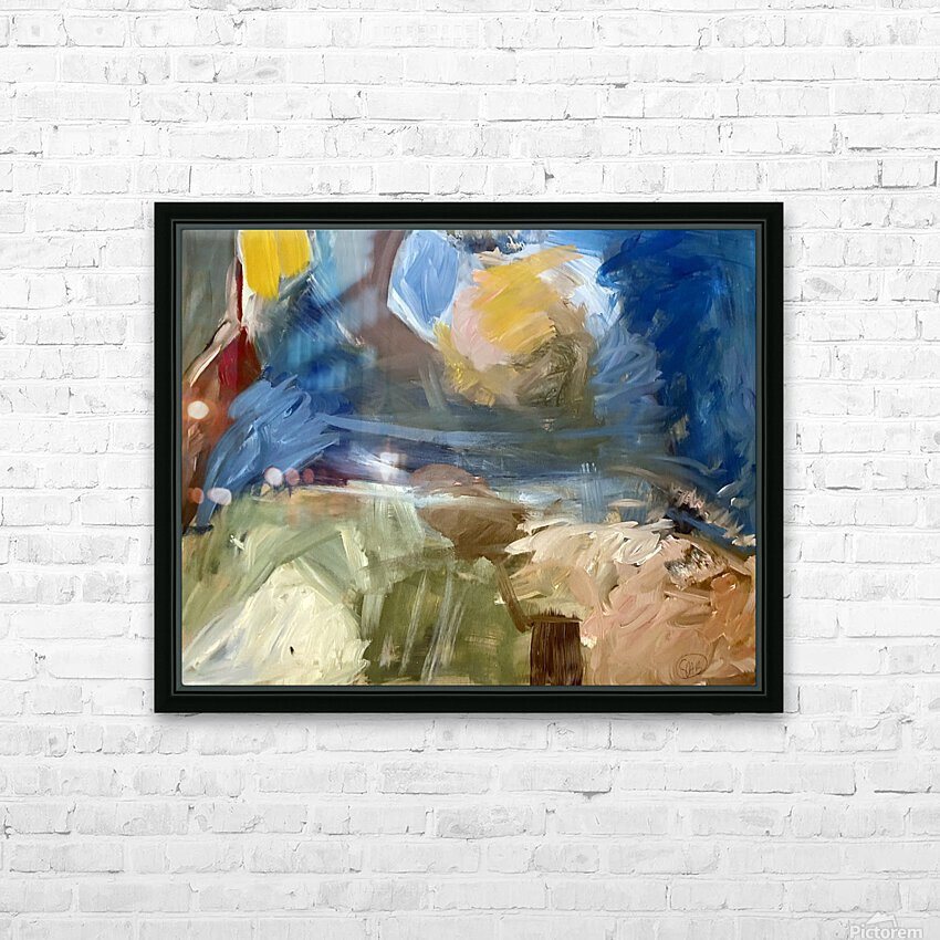 Sun Earth and Sky HD Sublimation Metal print with Decorating Float Frame (BOX)