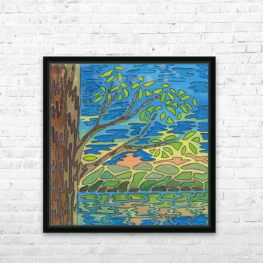 Blue View HD Sublimation Metal print with Decorating Float Frame (BOX)