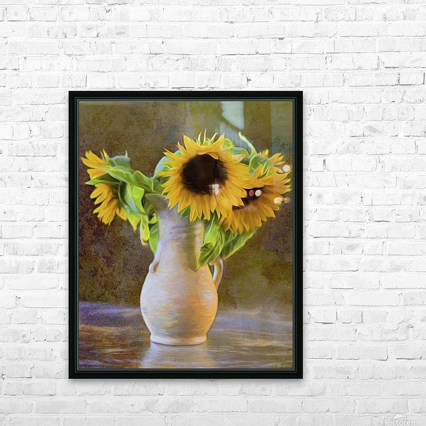 It's What Sunflowers Do - Flower Art by Jordan Blackstone HD Sublimation Metal print with Decorating Float Frame (BOX)