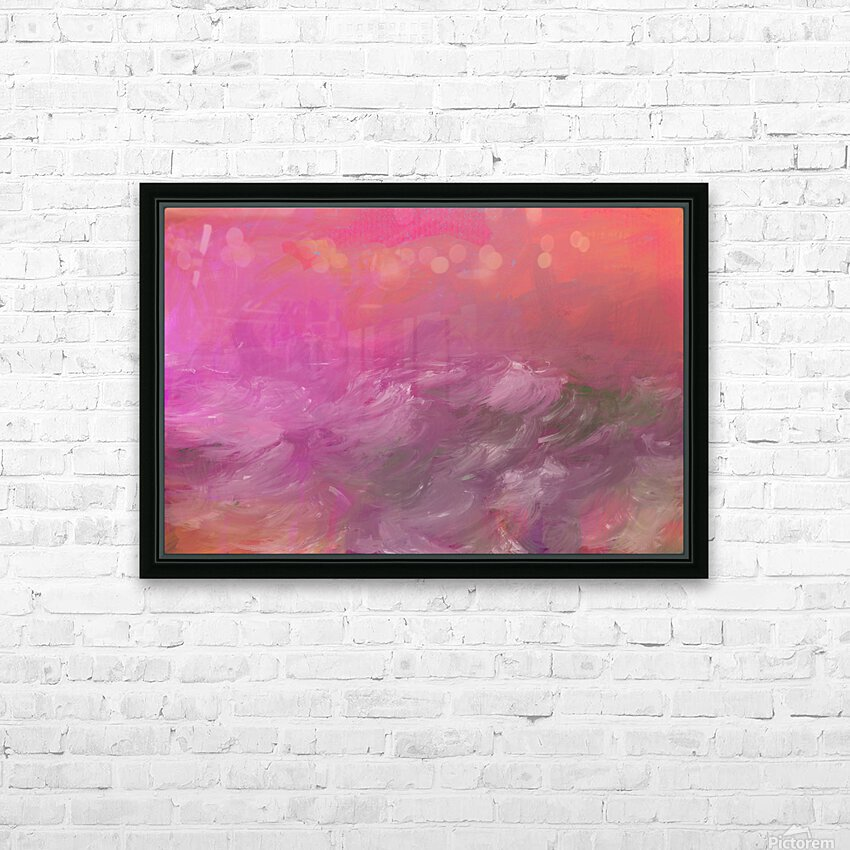 Pink Surf HD Sublimation Metal print with Decorating Float Frame (BOX)