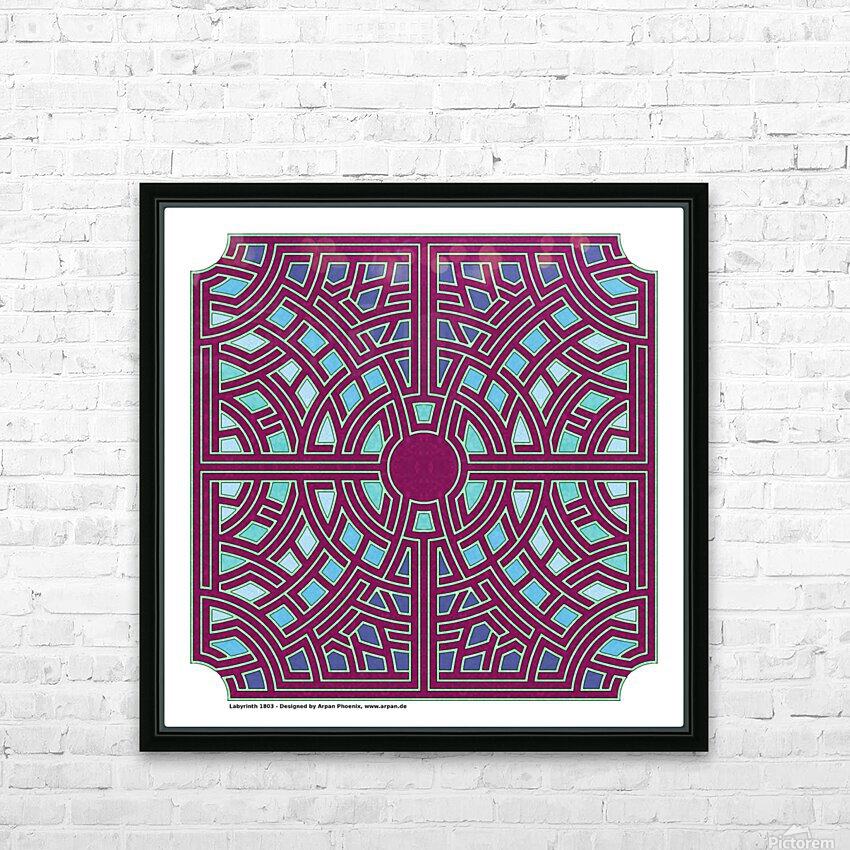Labyrinth 1803 HD Sublimation Metal print with Decorating Float Frame (BOX)