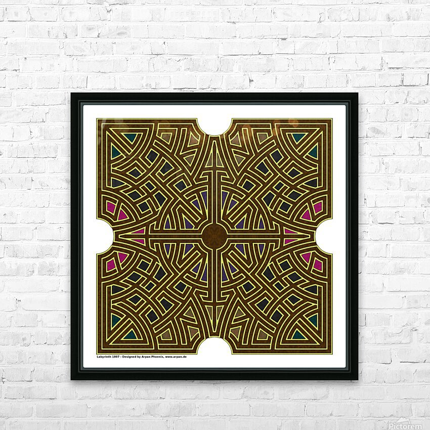 Labyrinth 1807 HD Sublimation Metal print with Decorating Float Frame (BOX)