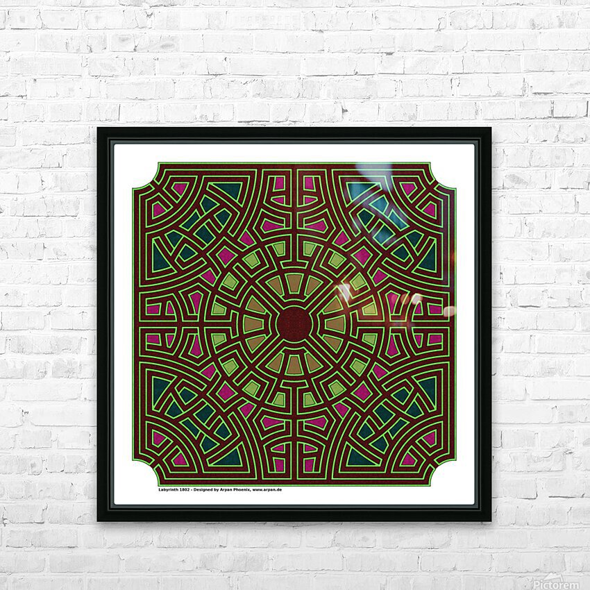Labyrinth 1802 HD Sublimation Metal print with Decorating Float Frame (BOX)
