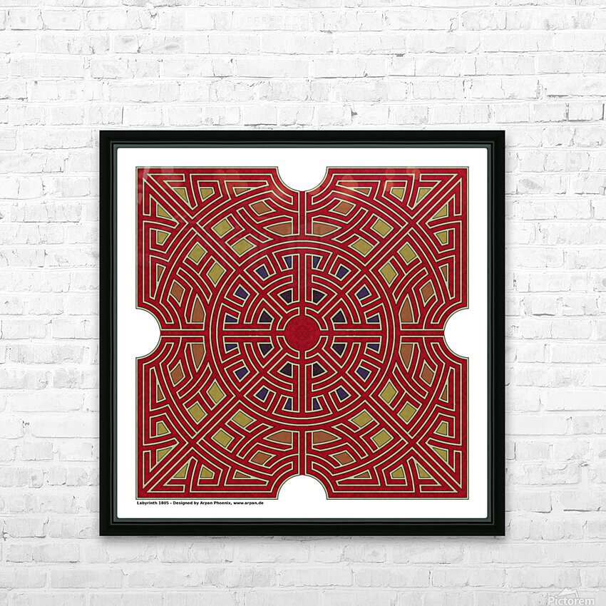 Labyrinth 1805 HD Sublimation Metal print with Decorating Float Frame (BOX)