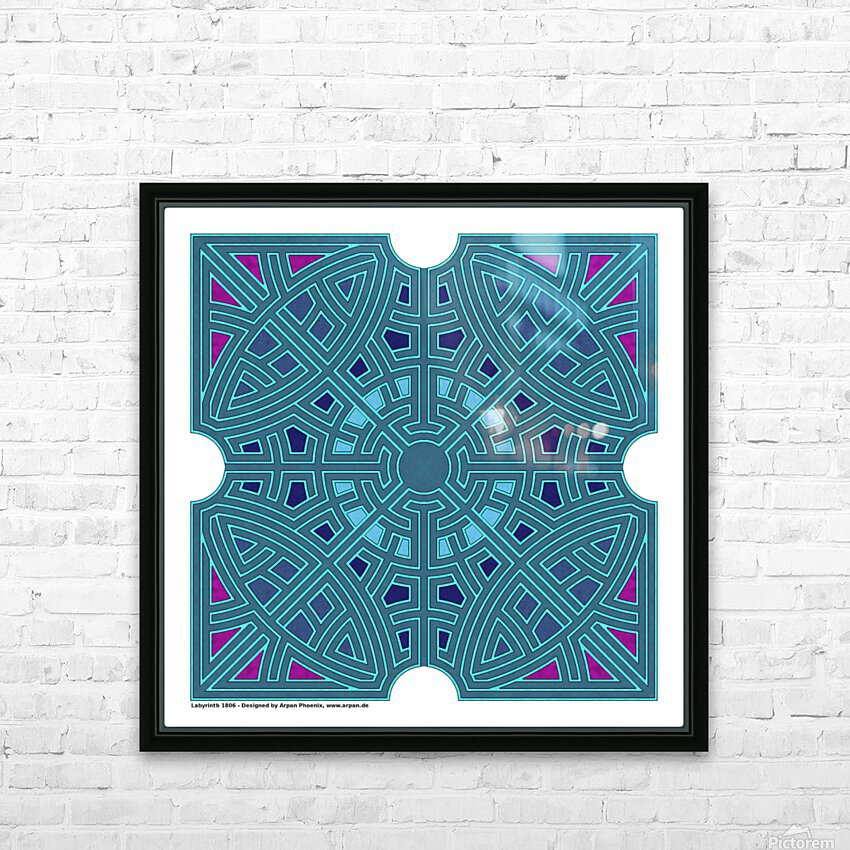 Labyrinth 1806 HD Sublimation Metal print with Decorating Float Frame (BOX)